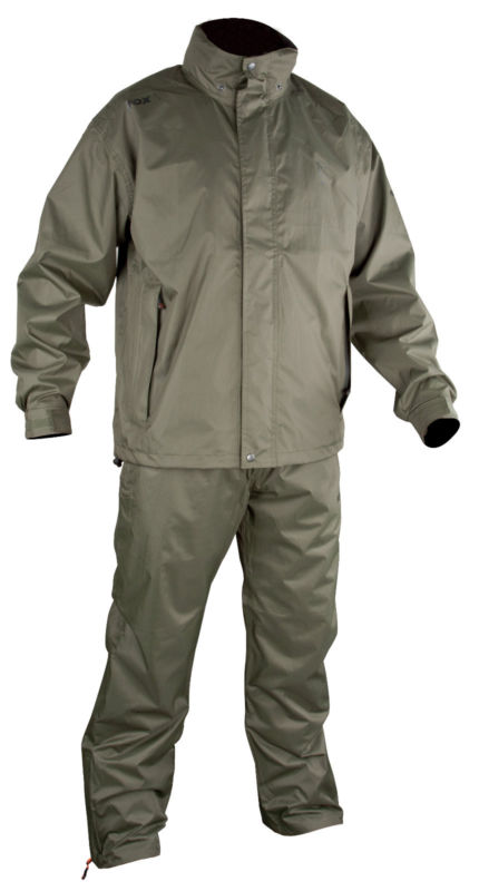 Fox new carp fishing lightweight rain suit all sizes ebay for Fishing rain suits
